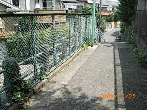 桜一丁目地獄坂のフェンスの改修