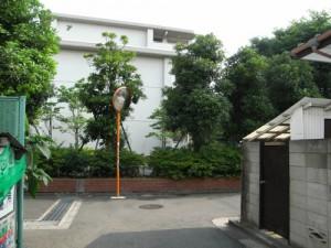 桜丘二丁目都営第四アパート抜け道の安全対策(カーブミラー設置)