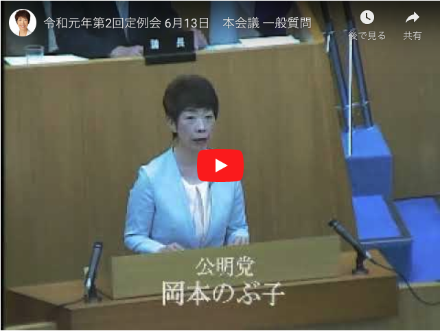 令和元年第2回定例会 6月13日 本会議 一般質問